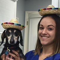 mexican sara and dachshund